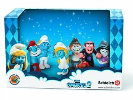 Smurfs 2 Movie Mini Figure 6-Pack Papa Smurf, Smurfette, Vanity, Vexy, Hackus & Gargamel Pre-Order ships September
