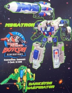 Transformers Botcon 2006 Dawn of Futures Past Exclusive Action Figure Add on Set Megatron & Darksyde Waspinator Only 500 Made!