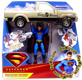 Superman Returns Movie Deluxe Action Figure Truck Lifting Superman