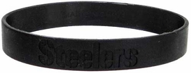 Official National Football League NFL Team Rubber Bracelet Pittsburgh Steelers [Black]