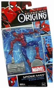 Spider-Man Hasbro Origins Action Figure Heroes Series 1 Spider-Man with Magnetic Shoot 'N Grab Action
