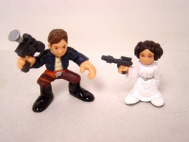 Star Wars Galactic Heroes Princess Leia and Han Solo LOOSE