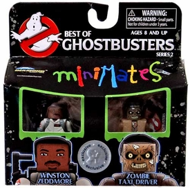 Ghostbusters Exclusive Best of Minimates Mini Figure 2-Pack Winston Zeddmore & Zombie Taxi Driver
