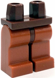 LEGO LOOSE Legs Reddish Brown Hips with Dark Orange Legs