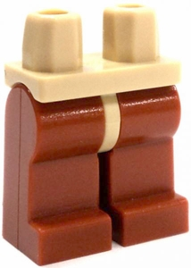 LEGO LOOSE Legs Tan Hips with Dark Orange Legs