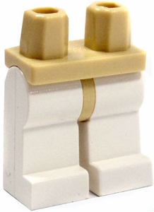 LEGO LOOSE Legs Tan Hips with White Legs