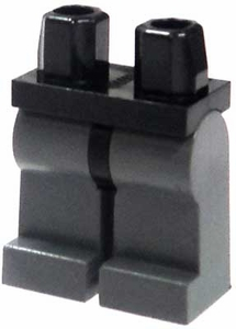 LEGO LOOSE Legs Black Hips & Dark Gray Legs