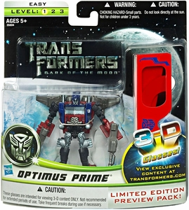 Transformers 3: Dark of the Moon Limited Edition Sneak Preview Deluxe Action Figure 3-D Cyberverse Optimus Prime