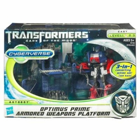 Transformers 3: Dark of the Moon Cyberverse Action Figure Optimus Prime with Armored Weapon Platform