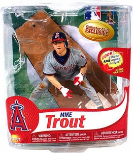 McFarlane Toys MLB Sports Picks Collectors Club Exclusive Action Figure Mike Trout (California Angels) Grey Retro Uniform