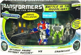 Transformers 3: Dark of the Moon Exclusive Cyberverse Legion Action Figure Playset Battle In The Moonlight [Optimus Prime & Autobot Ratchet vs Crankcase]