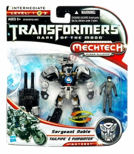 Transformers 3: Dark of the Moon Human Alliance Basic Action Figure Tailpipe with Sergeant Noble
