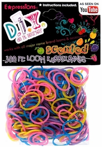 D.I.Y. Do it Yourself Bracelet 300 Scented Rainbow Rubber Bands with 'S' Clips