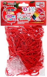 D.I.Y. Do it Yourself Bracelet Zupa Loomi Bandz 600 Fruity Tooty Red Scented Rubber Bands with 'S' Clips