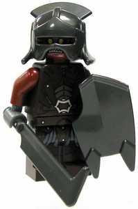LEGO Lord of the Rings LOOSE Mini Figure Uruk-hai Infantry [Helmet, Scimitar & Shield]