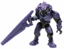 Halo Wars Mega Bloks LOOSE Mini Figure Covenant Purple Elite with Beam Rifle