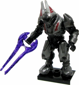 Halo Wars Mega Bloks LOOSE Mini Figure Articulated Covenant Silver Elite Ultra with Purple Plasma Sword & Honored Ascetic Armor