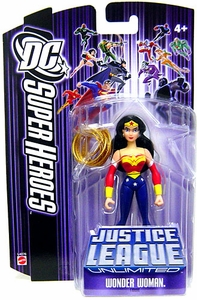 DC Super Heroes Justice League Unlimited Action Figure Wonder Woman with Gold Lasso [Purple Card]