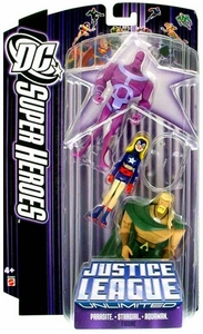 DC Super Heroes Justice League Unlimited Action Figure 3-Pack Parasite, Stargirl & Aquaman [Purple Card]