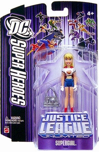 DC Super Heroes Justice League Unlimited Action Figure Supergirl [Purple Card]