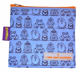 Lunch & Snack Bags: AllerMates Allergy Alert Reusable Snack Bags-Blue (tall) BLOWOUT SALE!