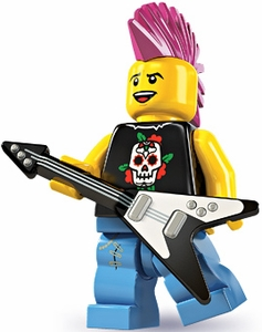 LEGO Minifigure Collection Series 4 LOOSE Mini Figure Punk Rocker