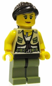 LEGO Dino LOOSE Complete Mini Figure Dino Hunter Female Hero