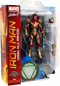 Iron Man 3 Diamond Select Toys Marvel Select 7 Inch Action Figure Iron Man Mark XLII Armor