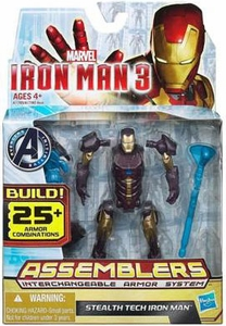 Iron Man 3 Assemblers Series 1 Action Figure Stealth Tech Iron Man [Black & Champagne]