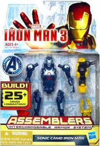 Iron Man 3 Assemblers Series 2 Action Figure Sonic Camo Iron Man [Dark Blue & Silver]
