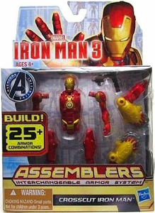 Iron Man 3 Assemblers Series 2 Action Figure Crosscut Iron Man [Red & Gold]