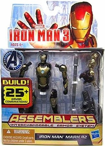 Iron Man 3 Assemblers Series 2 Action Figure Iron Man Mark 42 [Silver & Black]