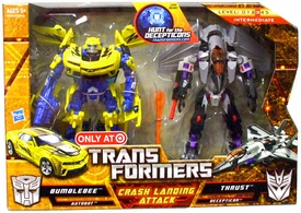 Transformers: Hunt for the Decepticons Exclusive Deluxe Action Figure 2-Pack Crash Landing Attack [Bumblebee & Thrust]