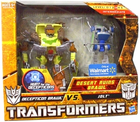 Transformers: Hunt for the Decepticons Exclusive Deluxe Action Figure 2-Pack Desert Ruins Brawl [Decepticon Brawl vs. Jolt]