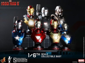 Iron Man 3 Hot Toys Movie 1/6 Scale Collectible Bust Deluxe Set