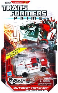 Transformers Prime Robots in Disguise Deluxe Action Figure Autobot Ratchet [Dual Battle Blades!]