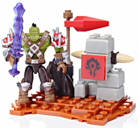 World of Warcraft LOOSE Mega Bloks Set #91003 Ragerock [Orc Warrior Faction Pack]