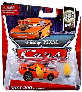 Disney / Pixar CARS Movie 1:55 Die Cast Car Snot Rod with Flames [Tuners 8/10]
