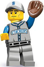 LEGO Minifigure Collection Series 10 LOOSE Mini Figure Baseball Fielder