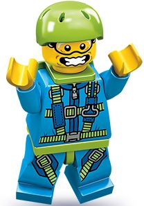 LEGO Minifigure Collection Series 10 LOOSE Mini Figure Skydiver