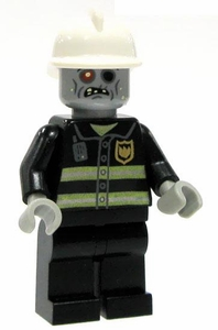 LEGO Zombie LOOSE Custom Mini Figure Fire Fighter Zombie [Version 2]