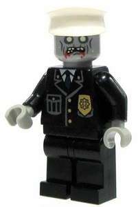 LEGO Zombie LOOSE Custom Mini Figure Police Officer Zombie [Version 2]