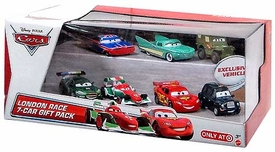 Disney / Pixar CARS Movie Exclusive 1:55 Die Cast Car 7-Pack London Race [Chauncy Fares, Union Jack Ramone, Flo, McQueen, Bernoulli, Gearsley & Sarge]