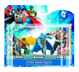 DC Heroes 4 Inch PVC Mini Figure 3-Pack Batman, Robin & Bane Pre-Order ships April