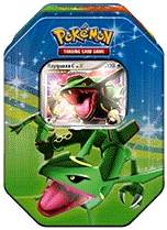 Pokemon Platinum Fall 2009 Collector Tin Set Rayquaza with Rayquaza C LV.X Card