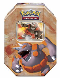 Pokemon 2008 Holiday Collector Series 1 Level-Up Tin Set Rhyperior with Rhyperior Lv.X Foil Card