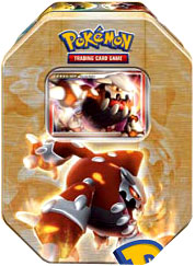 Pokemon 2008 Holiday Collector Series 2 Level-Up Tin Set Heatran with Heatran Foil Card