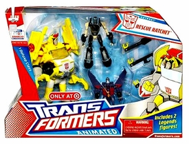 Transformers Animated Exclusive Deluxe Figure Rescue Ratchet [Includes 2 Legends Figures!]