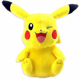 Pokemon TOMY 18 Inch Deluxe Plush Pikachu [Sitting & Winking!] BLOWOUT SALE!