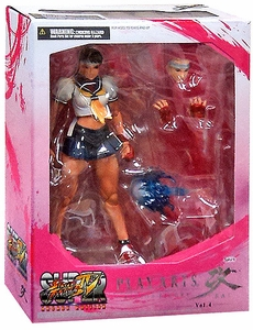 Super Street Fighter IV Square Enix Play Arts Kai Action Figure Sakura